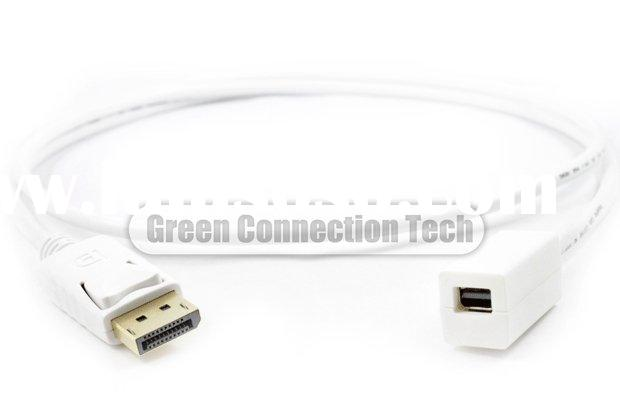 Dispalyport male to MINI displayport female cable