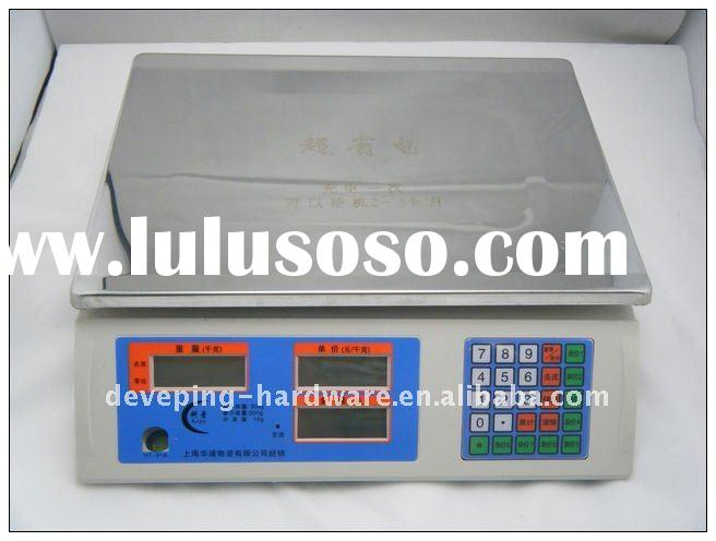 Electronic digital computing food price weight scale