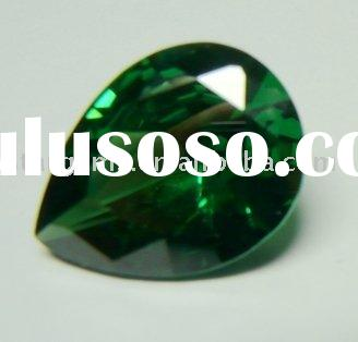 Emerald green precious stone-Pear 6*8