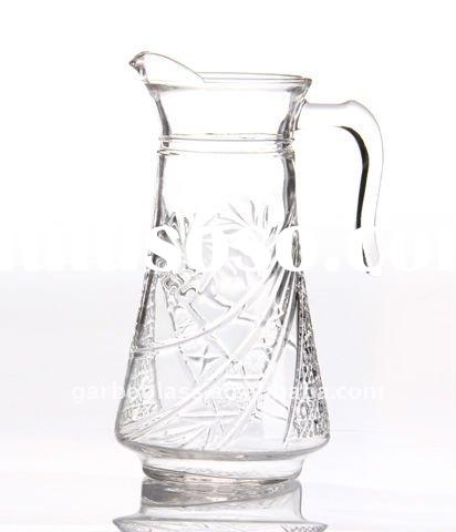 Engraved Glass Water pitcher