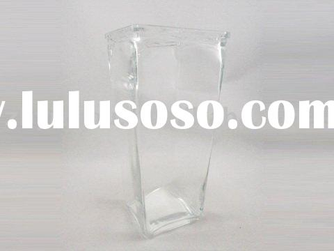 Enjoir-High Quality Clear Square Glass Vase