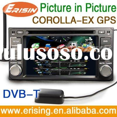 "Erisin 7"" 2 Din Touch Screen Autoradio for TOYOTA COROLLA EX with DVB-T GPS Wince 6.0 128MB PiP"