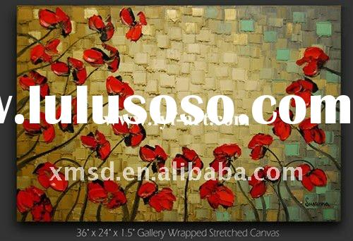 European Original Abstract Oil Painting Flower Designs