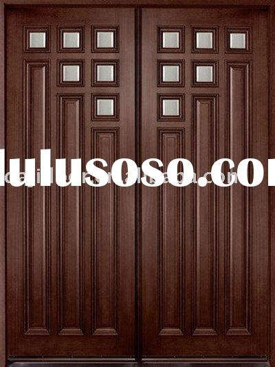 European Solid Wood Double Entry Door DJ-S8101