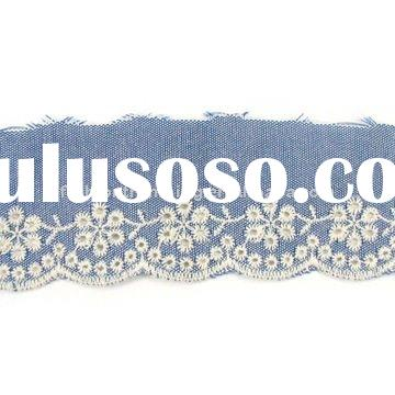 Excellent quality embroidery cotton Lace FLE093