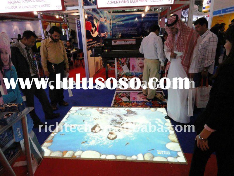 Exhibition, Trade show Interactive floor system advertising