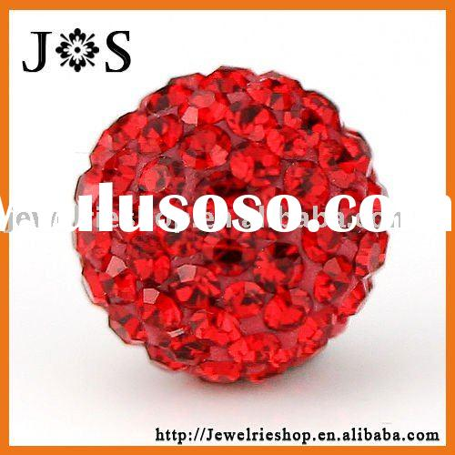 FREE SAMPLE! - 2011 Fashion Light Siam Czech Crystal Rhinestone Round crystal Ball Pave Bead