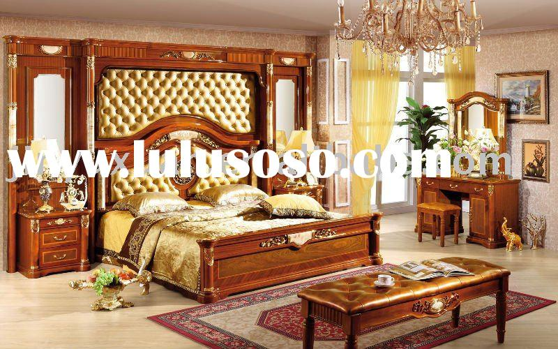 Factory Offer European New Classical Bedroom Set Bed with Bedscreen CDB-511#