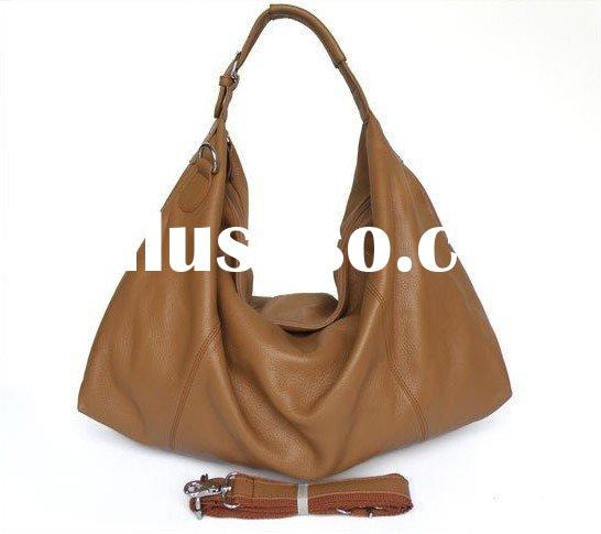 Factory price genuine leather hobo bag