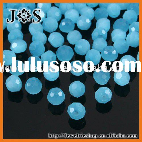 Fashion Jewelry Turquoise 5000 Faceted Round Glass Crystal Bead 4mm