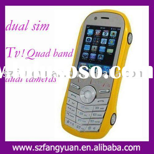 Fashion car cell phone F458 with TV function