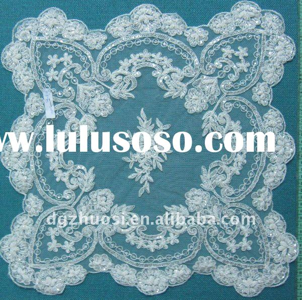 Fashion design embroidery wedding lace table cloth T0170-BC
