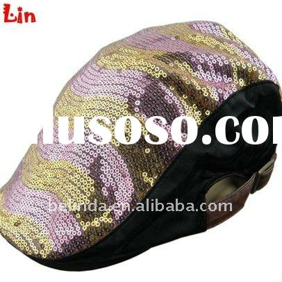 Fashion lady pink beret hat