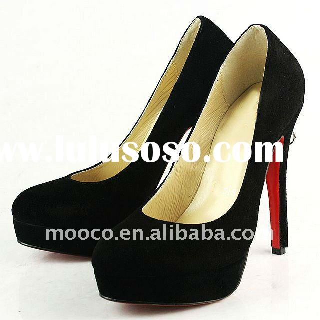 Fashion red sole high heel leather shoes woman 2012