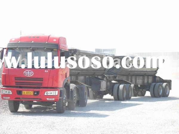 Four Axles Air Suspension Tandem Side Tipper Interlink Combination