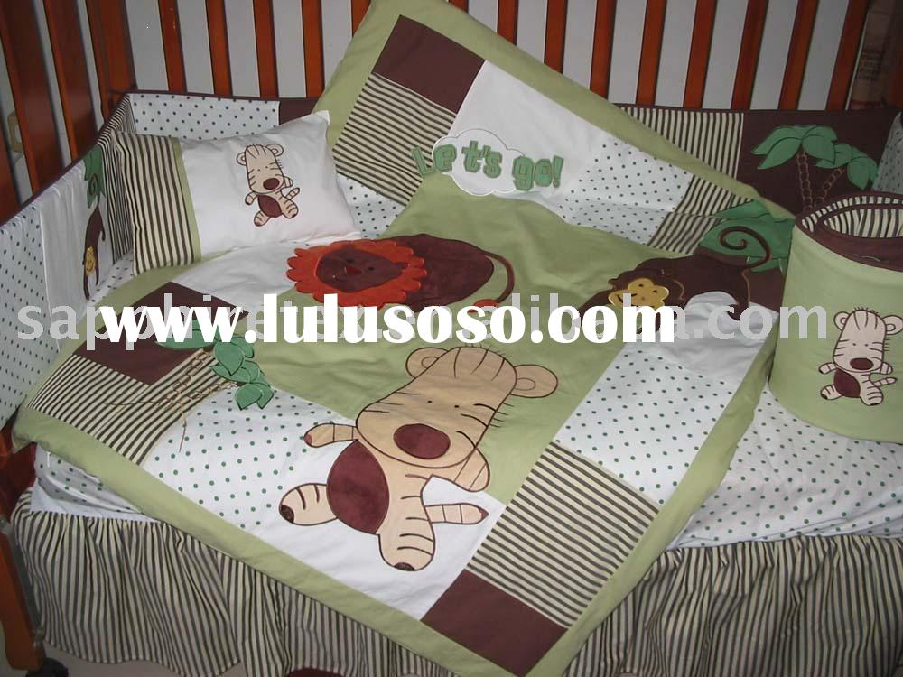 GREEN BABY BEDDING SETS