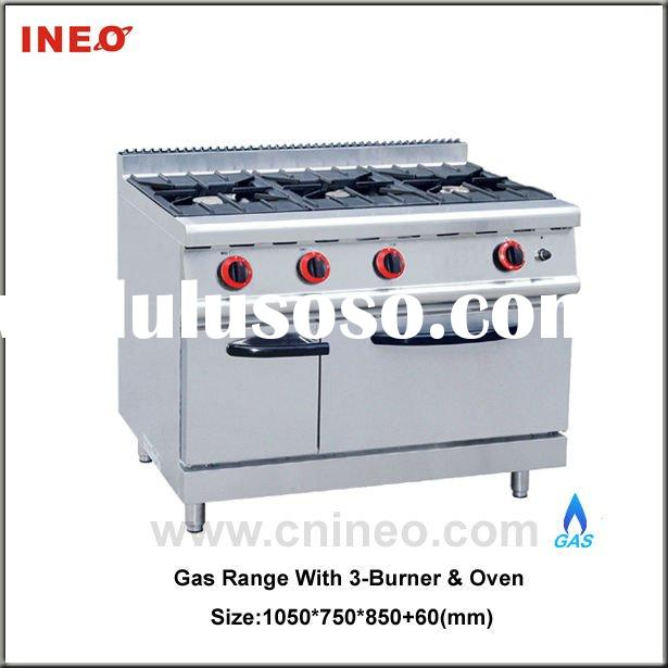 Gas range with 3 Burner & Oven