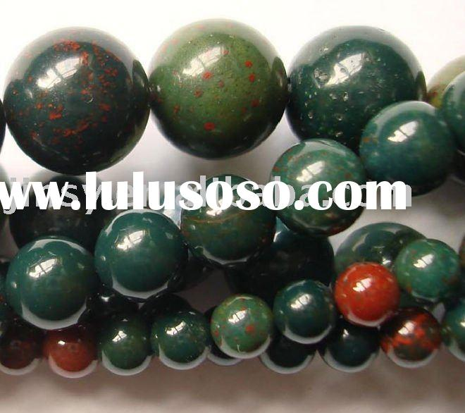 Gemstone Blood Stone Beads