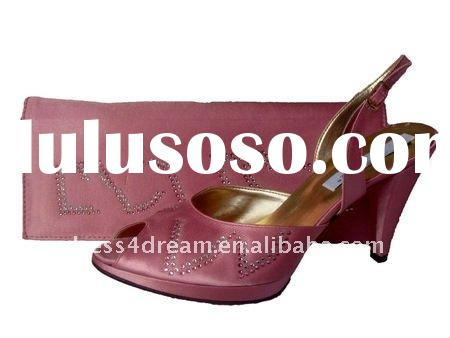 Genuine leather italian matching shoes and bags