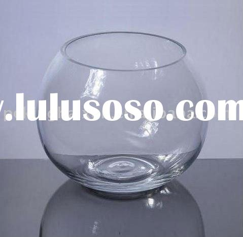 Glass Bubble ball fish bowl vases and candleholders