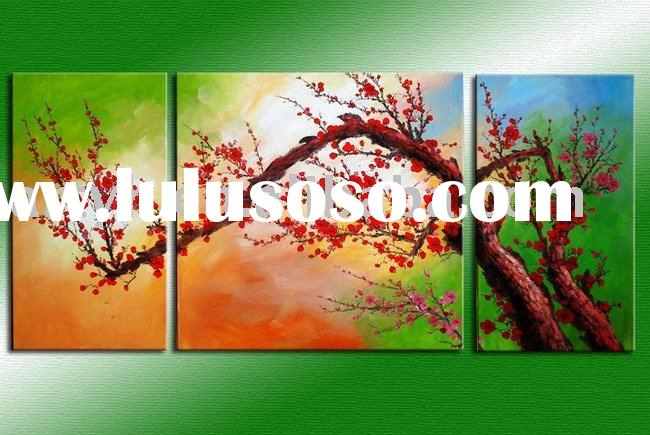 Group Flower Oil Paintings On Canvas(Plum-blossom), Hot Selling