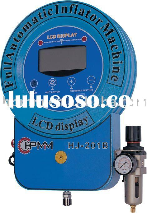 HJ-201B full automatic tire inflator, tyre inflator,LCD display,wall mounted(for air)