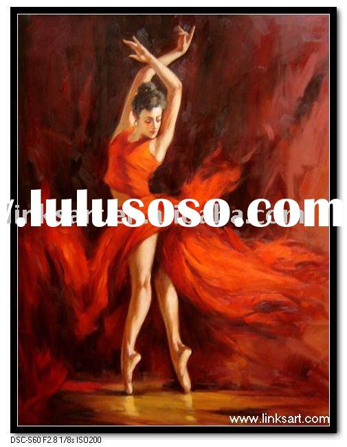 Handmade Lady Dancing Oil Painting
