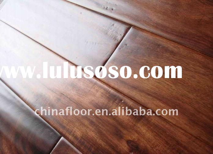Handscraped acacia solid wood floors (Prefinished)
