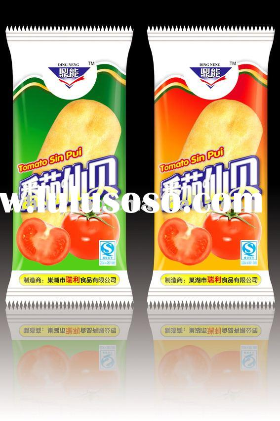 Heat seal pvc plastic pouch for cookie packaging