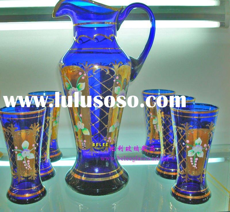 High quality enamel wine glass/crystal wine glass/glass goblet
