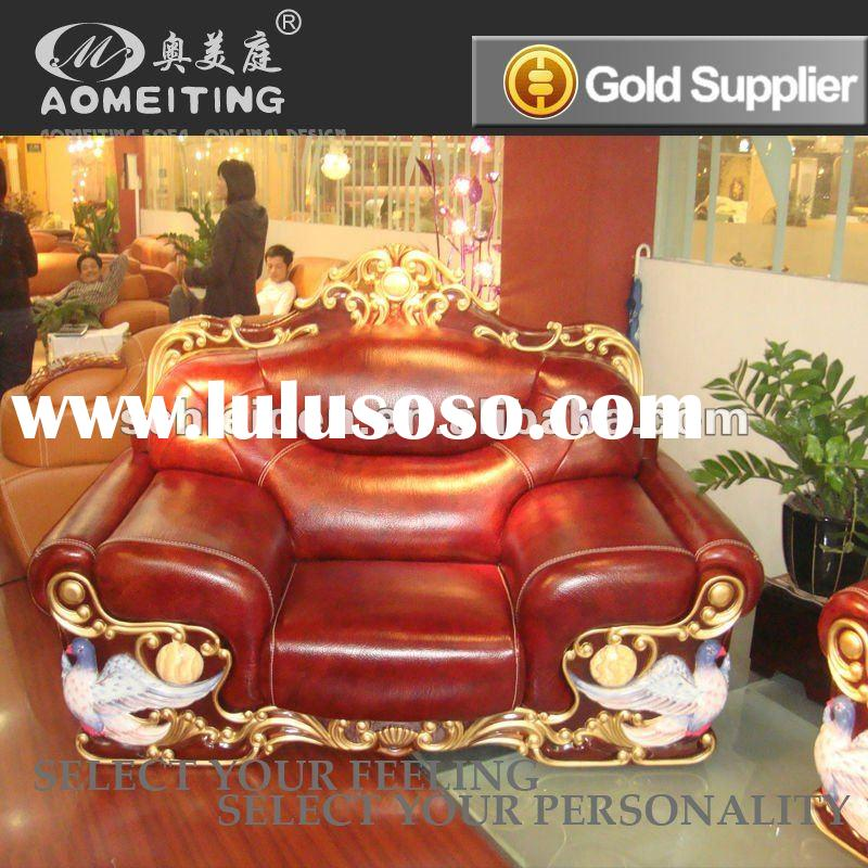 High quality gold drawing leather furniture sofa