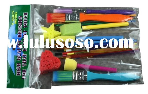Hobby Brush Sets(Paint on wood, paper, fabric, clay, glass and plastic)