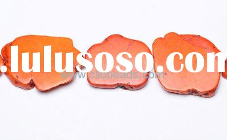 Hot Gemstone Beads Dyed Orange Magnesite Slabs