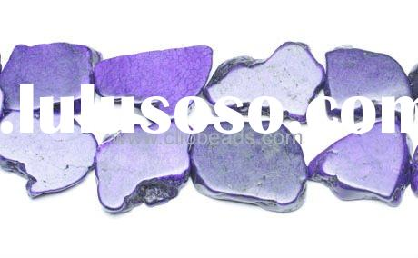 Hot Gemstone Beads Dyed Purple Magnesite Slabs