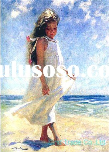 Impressionism the beach painting on canvas