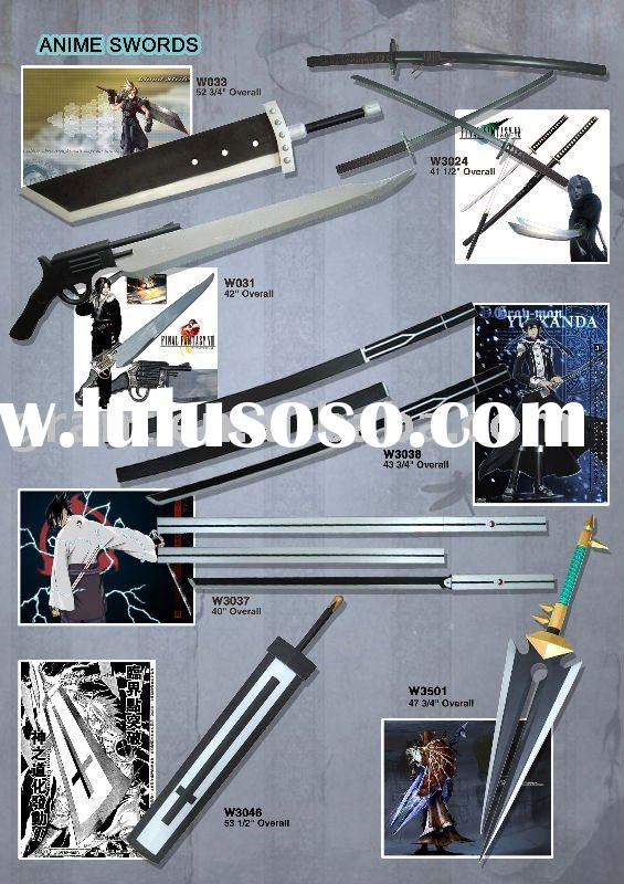 Japanese sword/anime bleach sword/cartoon sword/movie sword/wooden sword/wood sword/katana sword/sam