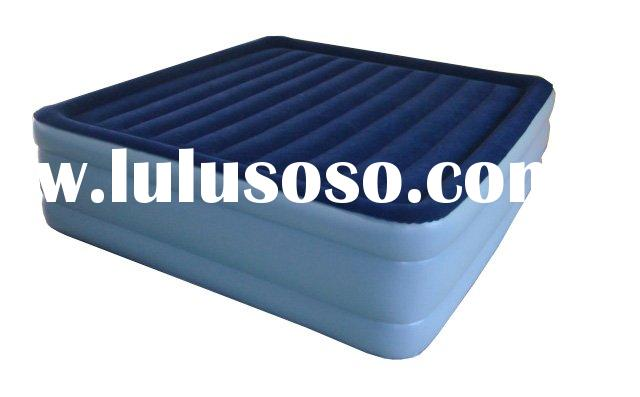 King Size Raised Airbed Inflatable Flock on Top