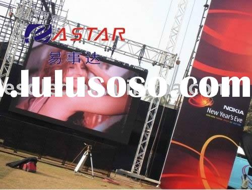LED panel outdoor advertising video mobile rental screen