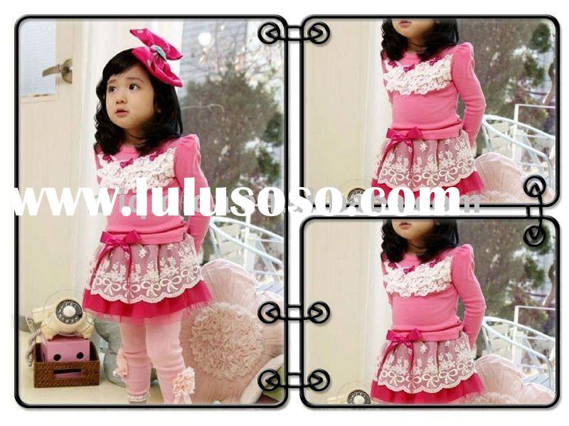 Latest design baby clothing sets/OEM/wholesale/2-12years old
