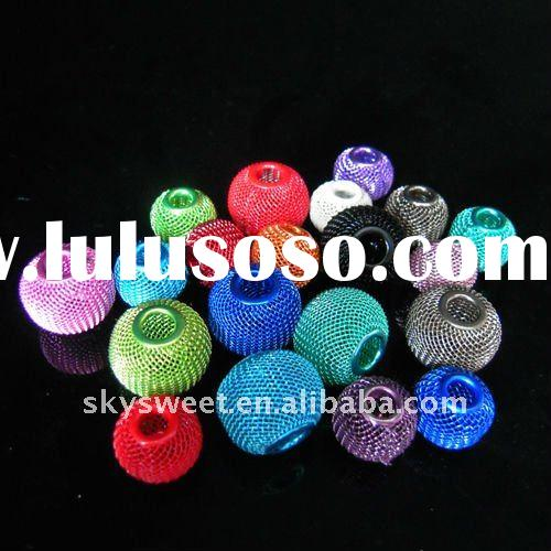 Loose Colorful Mesh Ball Beads,Basketball Wives Earrings Findings (SWTBD100A)