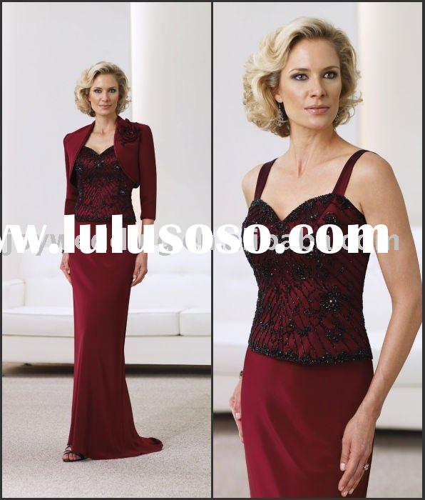 MM0606 With jacket sleeve A-line ball Trumpet /Mermaid bridesmaid party gown embroidery beaded lace