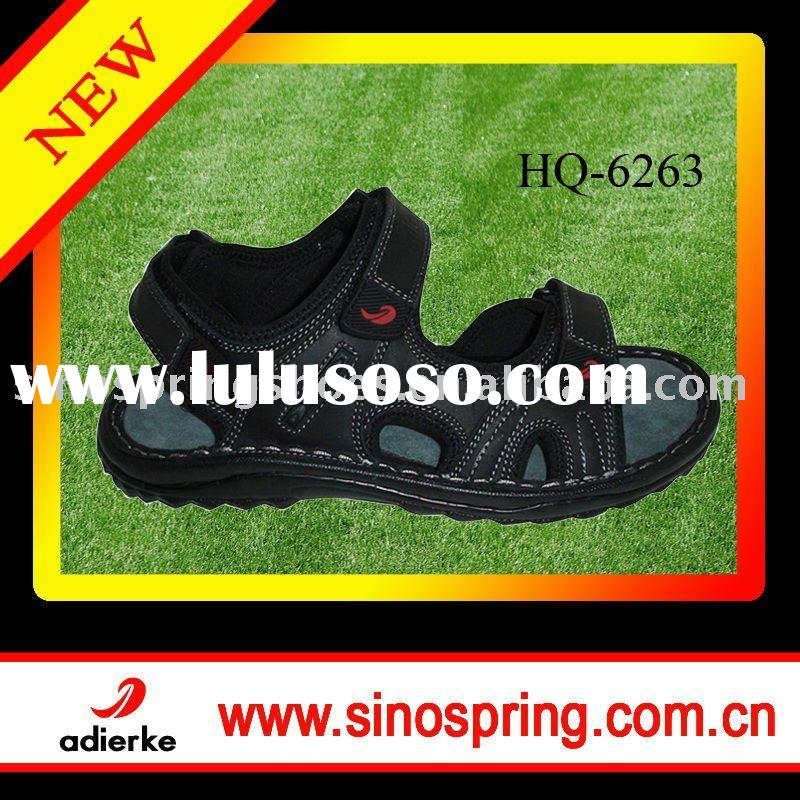Man leather sandal shoes