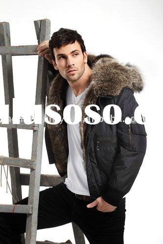 Mens fur Jackets with raccon collar
