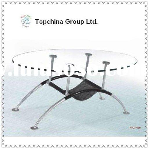Modern Design Office Or Home Furniture Glass And Metal Coffee Table Desk