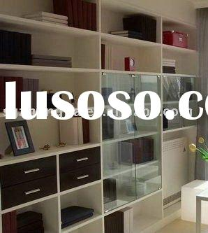 Modern wooden wall book shelves furniture for decoration