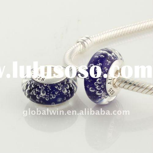 Murano Glass Beads with 925 Sterling Silver Core Wholesale