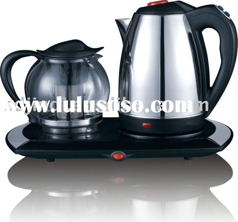 Muti-protection stainless steel Electric Kettle Set/ Tea maker with CB CE product approvals