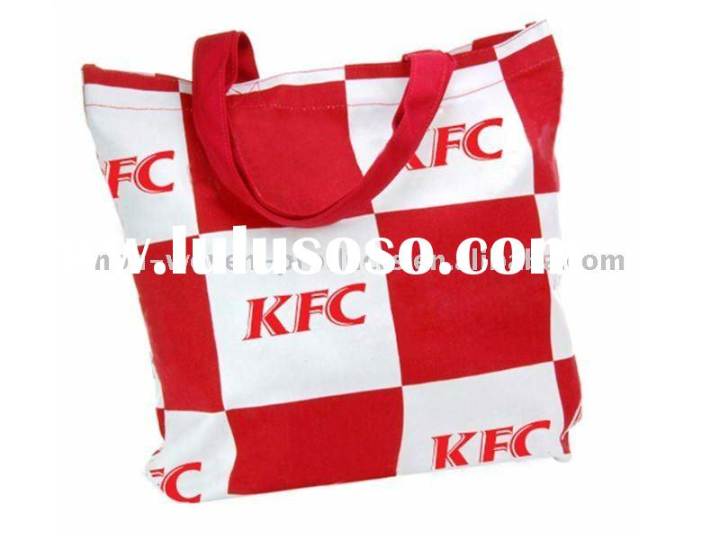 NEW !!!2011 KFC hot selling canvas tote shopping bag