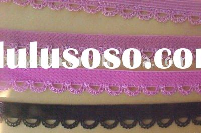 NEW 3/8 BLACK & PINK Dainty LACE Picot Edged Elastic