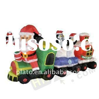 NEW!! Airblown Christmas inflatable train yard or home decoration